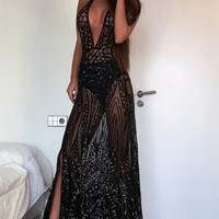 See Through Me Sequin Dress