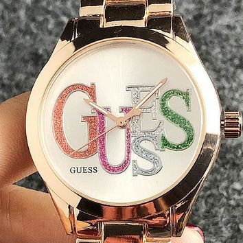 GUESS 2019 new trend simple men and women models quartz watch 5