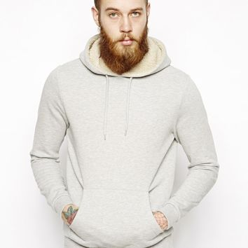 ASOS Hoodie With Borg Lined Hood
