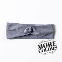Free shipping, baby gray basic turban Headband, trendy toddler stretchy solid color headwrap, cool plain grey newborn headband, baby gift