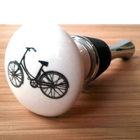Retro Bicycle Wine Stopper - Wine Bottle Stopper