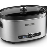 6-Quart Slow Cooker Four Temperature Settings Kitchen Appliance Stainless Steel