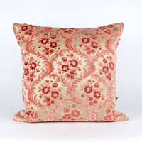 Luxury Pink Velvet Pillow Cover - Shabby Chic - Designer Pillow - Cushion Cover - Decorative Pillow Handmade by EllaOsix