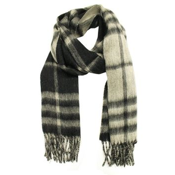 Plaid And Check Wool Scarf