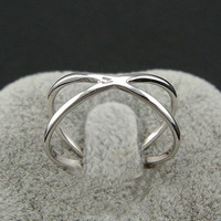 New Arrival Gift Jewelry Shiny 925 Silver Stylish Hollow Out Korean Accessory Ring [8380579079]