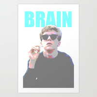 The Breakfast Club Brain Art Print by Jessica Pulido