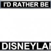 I'd Rather Be In Disneyland License Frame [MISC002] - $16.99