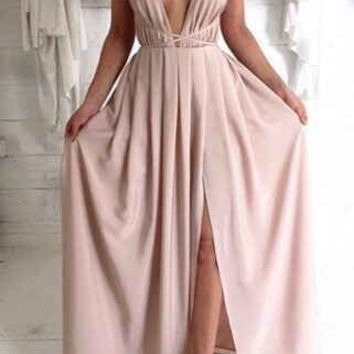 Fashion A-line Backless Long Prom Dress