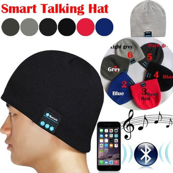 Creative Bluetooth Knit Beanie with Hands-free Calls Function = 1946087748