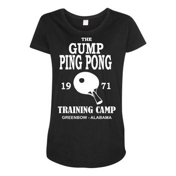 forrest gump   ping pong camp   cult film Maternity Scoop Neck T-shirt