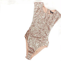 Seductive Sequins Bodycon Bodysuit