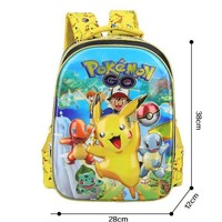 Anime Pokemon Daily Backpack Boys Girls School Bags Pikachu Prints Backpack For Teenagers Kids Gift Backpacks Schoolbags Mochila