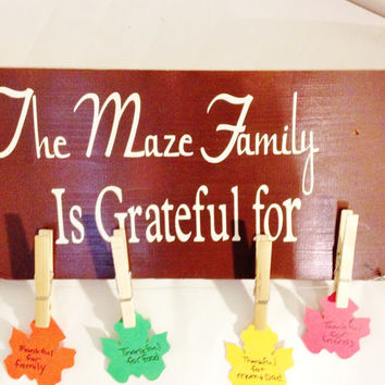 Thanksgiving Decoration, Personalized Thanksgiving Decoration, Wood sign, Family, Grateful, Thankful, Thanksgiving Wood, Thanksgiving Party