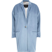 River Island Womens Light blue oversized coat
