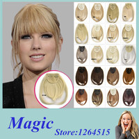 Front Hair Bangs Extension Clip in Hair Bang Synthetic Heat Resistant Fiber Hair Fringe Cute Hair Fringe Bangs 32 Colors