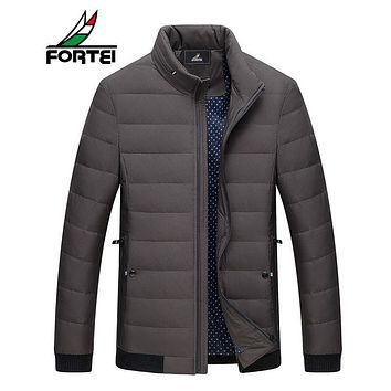 FORTEI 2017 winter brand down jacket Men Multiple pockets thicken 90% White Duck Down Jackets Parkas male coats clothing 187