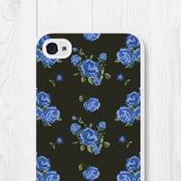 Floral iPhone 5 Case - Floral iPhone 5c Case - Blue Floral Phone Case - Roses Phone Case - Floral iPhone Case - Floral iPhone 4 Case