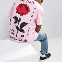 Carhartt WIP Radio Club T-Shirt With Rose Back Print at asos.com