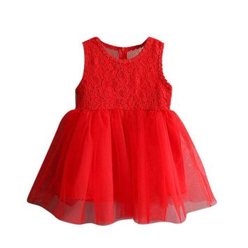 2017 Girls Dresses Fashion Casual Summer Lace Tutu Dress Kids Party dress for Girls Clothes Children Costume Vetement Fille