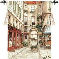 Pure Country Weavers Promenade a Paris I Tapestry - 2331-WH - All Wall Art - Wall Art & Coverings - Decor
