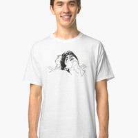 'Elio and Oliver CMBYN Call me By Your Name line art' T-Shirt by nicoloreto