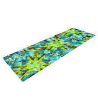 "Michael Sussna ""Pollenesia"" Teal Green Yoga Mat"