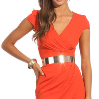 Party dresses > LIKE TO PARTY DRESS IN ORANGE