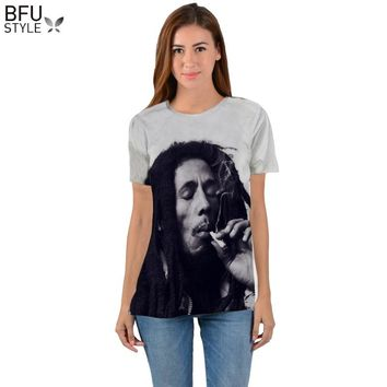 Bob Marley T-shirt Men Women Harajuku 3D Print T-shirt Funny Brand Clothing Summer Tops Tees Hip Hop T Shirts Dropship