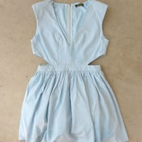 Stirling Blue Party Dress [6672] - $37.80 : Vintage Inspired Clothing & Affordable Dresses, deloom | Modern. Vintage. Crafted.
