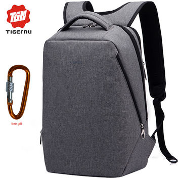 "USB Charging mochila Tigernu Fashion Laptop Backpack 17"" femenina School Bags Backpack Travel"