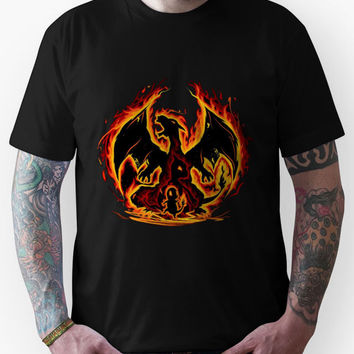 Charizard fire evolutions cool design Unisex T-Shirt