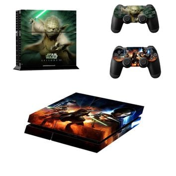 PS4 Star Wars EPISODE III Skin Sticer  For PlayStation 4 Console and 2 Controller skin