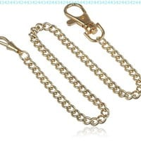 Charles-Hubert, Paris 3548-G Stainless Steel Gold-Plated Pocket Watch Chain:Amazon:Watches