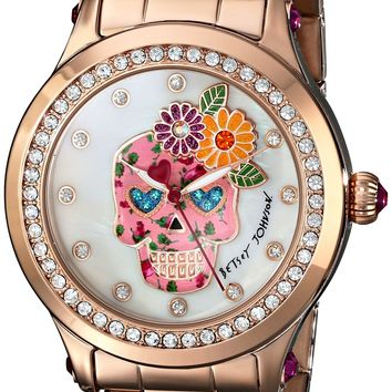 Betsey Johnson Women's BJ00366-05 Analog Display Quartz Rose Gold Watch