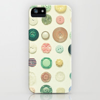 The Button Collection iPhone & iPod Case by Cassia Beck