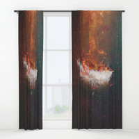 Icarus Window Curtains by HappyMelvin