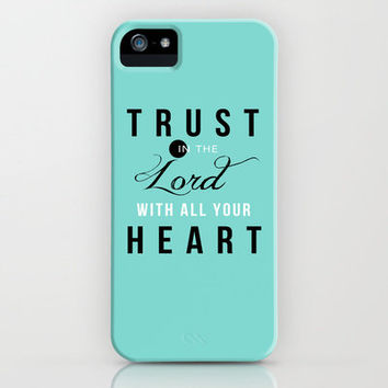 Proverbs 3:5 iPhone Case by Pocket Fuel | Society6