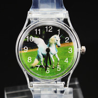 Horse Unicorn / Frog Prince / Football Watches Rabbit Kangaroo Turtle Elephant Eagle Lizard Butterfly Swan Children Kids Watch