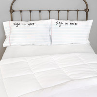 Urban Outfitters - Sign In Here Pillowcase - Set Of 2
