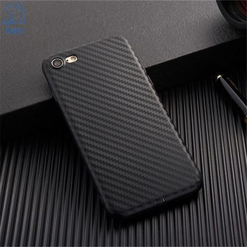 KRY 2017 New Carbon Fiber Soft Phone Cases For iPhone 8 Case Cover For iPhone 7 Case Anti-knock Cases Skin Luxury Capa Coque