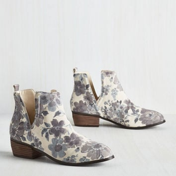 Romantic Amble Bootie in Morning Fog | Mod Retro Vintage Boots | ModCloth.com