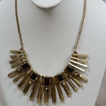 Seeing Spikes Necklace: Black
