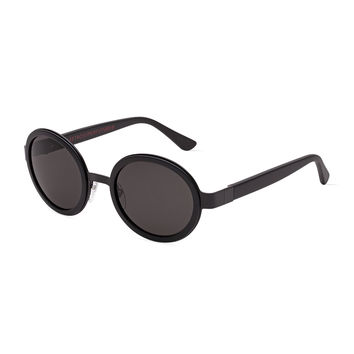 Santa Matte Round Sunglasses, Black - Super by Retrosuperfuture