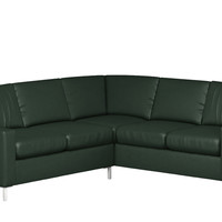 Soho Leather True Sectional Couch with Twin Pullout Bed