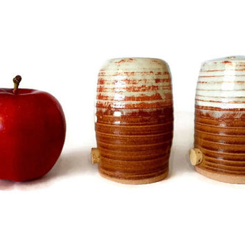 Rawhide Glaze Stoneware Pottery Salt and Pepper Shakers