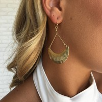 Crescent Moon Earrings In Gold