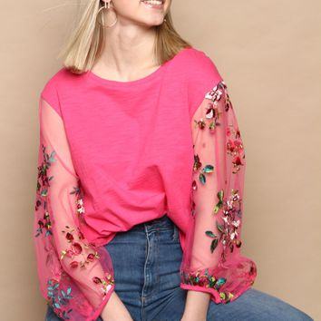 Floral Fever Puff Sleeve Tee