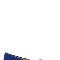 Charlotte Olympia Blue Suede And Swarovsky Limited Edition Kitty Flats