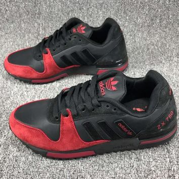ADIDAS ZX750 Fashion Casual Running Sport Casual Shoes Sneakers Black Red G-CSXY