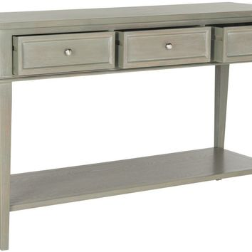 Manelin Console With Storage Drawers Ash Grey